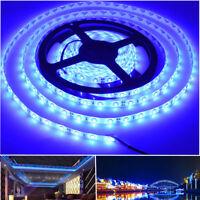 16ft 300LED SMD5630 LED Flexible Strip 12V Waterproof IP65 Blue Light Decoration