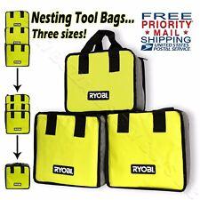 Ryobi 3-Piece Nesting Tool Bag Set *FREE SHIPPING!* One+ For Drill Impact & More