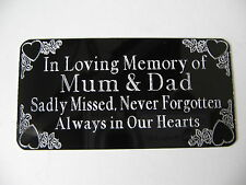 Personalised  Engraved Bench Memorial Plaque Plate Sign- Black Stick On 85x44mm