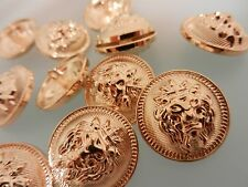 Löwenkopf. 10 st..Knöpfe.Buttons.Lion.Gold.Edel.Luxus.Lionhead.Cabeza de León