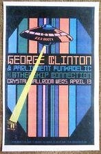 GEORGE CLINTON 2016 Gig POSTER Parliament Funkadelic Portland Oregon Concert
