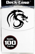 White 100 Card Deck Box with Divider plus FREE 100 Deck Guard Sleeves NEW