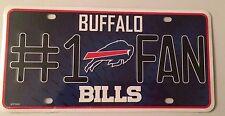 Buffalo Bills #1 Fan Metal Embossed License Plate Officially Licensed