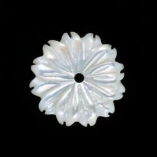 10 pcs 12mm White mother of pearl MOP shell flower beads