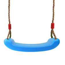 Swing Seat w/ Adjustable Brown Rope for Kids Play Home Garden Accessory