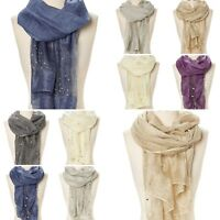 Scarf Wrap Sequin Glitter Beaded Women Soft Scarves Stole Evening Prom Wedding