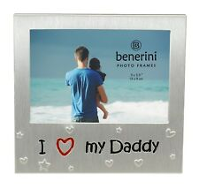 I Love My Daddy Photo Picture Frame Gift 5 X 3.5 Inch (brushed Aluminium Satin Silver Colour)