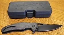 NEW Brous Blades VR-71 Flipper Folding Pocket Knife Carbon Fiber Black D2 Blade