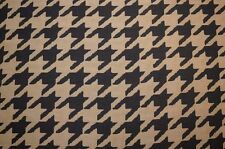 Large Houndstooth Black Upholstery Fabric