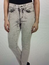 NWT NYDJ Not Your Daughters Jeans METAL POLKA DOT Clarissa Studded ANKLE Size 14