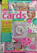 Make Birthday Cards 2017 Special Issue Complete Card Kit Gifts FREE SHIPPING sb