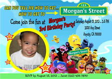 SESAME STREET PERSONALIZED PRINTABLE BIRTHDAY PARTY INVITATION & FREE TY CARD