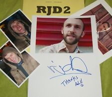 RJD2 Autographed Photo & Photos- Collectible