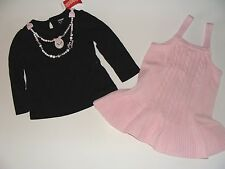 Gymboree Tres Fabulous Girls Size 2T Poodle Dog Puppy Top Pink Jumper Dress NWT