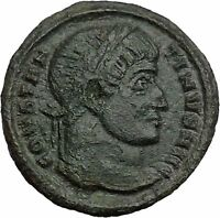 Constantine I The Great 320AD Ancient Roman Coin Wreath of sussess i36323