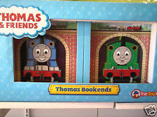 New Thomas the tank train book ends timber wooden