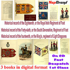 Historical record of  18th, 46th Foot, & 14th, King's Regiment of Light Dragoons