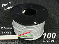 100m roll electrical cable flat 2.5mm 3 core (2C + E) - for power circuits