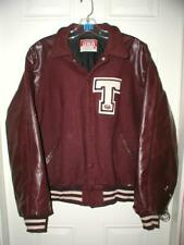 High School Varsity Letter letterman Jacket XXL Maroon vintage T Texas