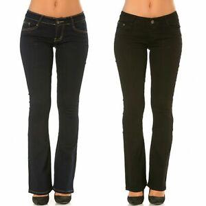 Ladies Boot cut Jeans Women's Denim Pants Stretch Work Office Trousers UK 6-14