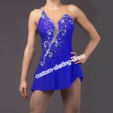 Blue Figure Skating Dress Girls Figure Skating Competition Dress Adult B161