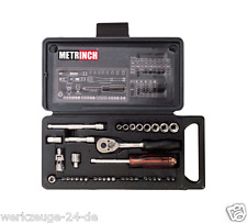 """METRINCH 1/4"""" Socket Wrenches Set 37-tlg. Metric Inch Box for of MET-0325"""