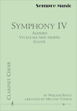 """""""SYMPHONY IV"""" CLARINET CHOIR-ALLEGRO VIVACE MA NON TROPPO BAND SCORE & PARTS NEW"""