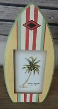 """SURFBOARD PICTURE PHOTO FRAME FREESTANDING BEACH SEA THEME 4"""" X 6"""" PHOTO SIZE"""