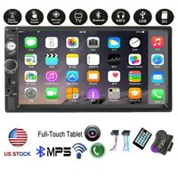 """7"""" 2Din Car Stereo Radio Touch Screen Bluetooth Mp5 Player SD TF HD Mirror Link"""