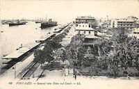 B91499 port said general view town and canal ship bateaux  egypt