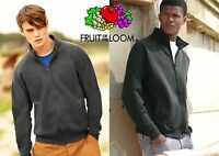 FRUIT OF THE LOOM  FELPA zip lunga GIACCA UOMO full zip SWEAT cerniera PREMIUM #