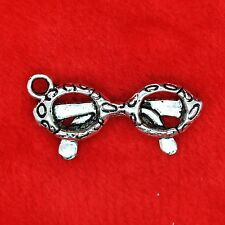 6 x Tibetan Silver (Sun) Glasses SEWING Charm Pendant Finding Beading Making