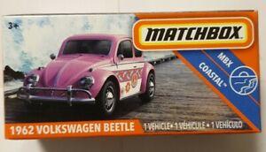 MATCHBOX COASTAL 1962 VOLKSWAGEN BEETLE PINK 86/100 2020 VVHTF MATTEL