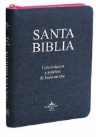 BIBLIA LETRA GRANDE JEAN ROSA REINA VALERA 1960 CON CIERRECON INDICE 12 PUNTOS