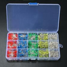 750pcs 3mm Yellow Red Blue Green White Assortment LED Diodes Diffused Light Kit