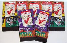"7 Halloween Bandana 22"" Sq Tie On Neck Scarf Cotton Dog Grooming New W Tags"