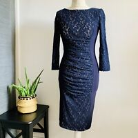 PHASE EIGHT LACE Dress Size 10 NAVY   SMART Occasion WEDDING Cruise RACES