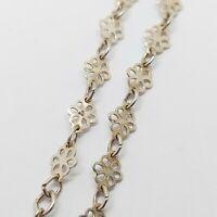Solid sterling silver 925 bracelet Bz211 chain 7 inch womens jewellery flower