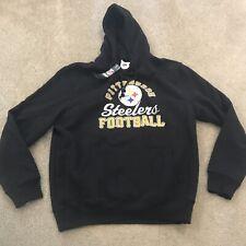 NFL Pittsburgh Steelers Majestic Fleece Hoodie Gray Mens Size L
