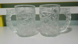 MCDONALDS RARE FROSTED BATMAN GLASSES  90S LIMITED EDITION
