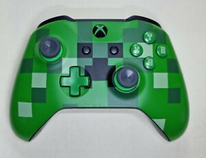 Microsoft Xbox One S Wireless Controller Minecraft Creeper Special Edition. USED