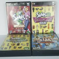 Sims & Sims 2 Lot. Glamorous Life Teen Style Seasons PC Game 4 PC Games