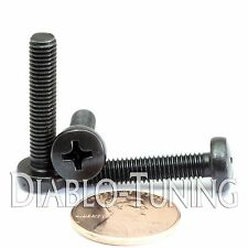 M5 x 25mm - Qty 10 - Phillips Pan Head Machine Screws - DIN 7985 A - Black Steel