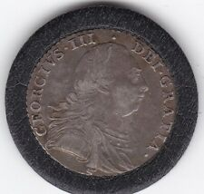 1787    King    George   III   Silver  Shilling   Coin