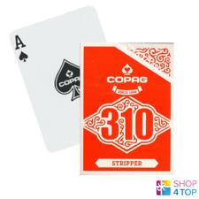Copag 310 Stripper Poker Spielkarten Deck Tricks Papier Standard Index Rot Neu