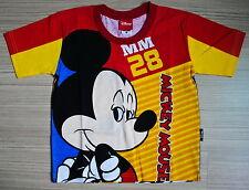Disney MICKEY MOUSE Boy Girl Kids Cotton T Shirt Size M Age 4-6 Y #37 New