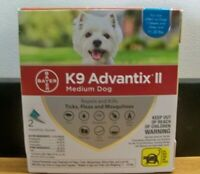 NEW BAYER K9 ADVANTIX II MEDIUM DOG 11-20 LB 2 DOSE FLEA TICK KILLER 1STCLSS&H