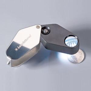 Leuchtturm 329828 Magnifier Of Pocket With LED, 10 Magnifying, Black, Ø 18 MM