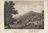 Gernsbach : Schloss Eberstein u. Klingelkapelle. - Radierung, um 1820