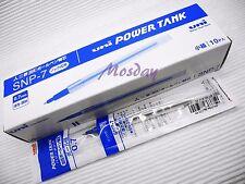 10 x Uni-Ball SNP-7 Power Tank Oil Based Ballpoint Pen Refills, BLUE